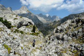 трек в горах Албании