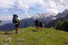 Албания, похо по Динарским Альпам. на перевале