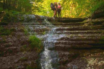 Водопад в походе по Товтрам