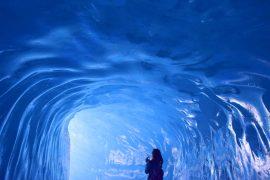 Треккинг вокруг Монблана в Альпах. Ледник Мер де Гласс
