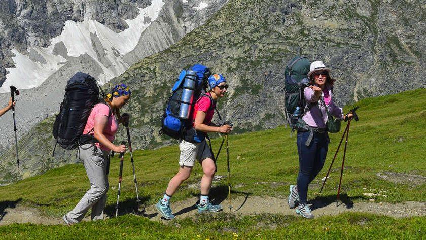 поход по Альпам вокруг Монблага